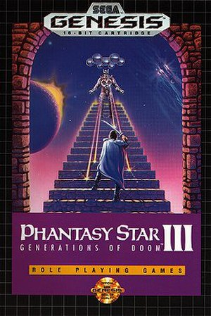 Phantasy Star III: Generations of Doom - Box art for the North American release