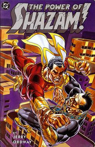 The Power of Shazam! - Cover art from the trade paperback edition of The Power of Shazam! graphic novel (released in 1995). Art by Jerry Ordway.