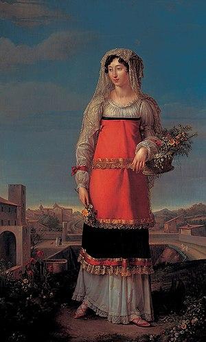 Charlotte Bonaparte Gabrielli - Portrait by Jean-Baptiste Wicar, 1815