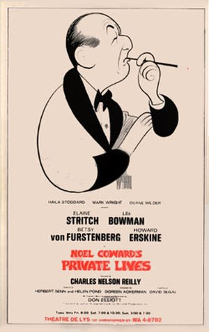 Private Lives - Poster from the 1968 Theatre De Lys production