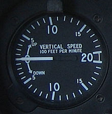 Variometer wikipedia the vertical speed indicator from a robinson r22 this is the most common type used in aircraft showing speed in feet per minute greentooth Images