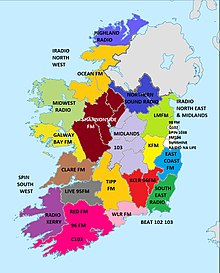 Map Of Ireland Midlands.List Of Radio Stations In The Republic Of Ireland Wikipedia