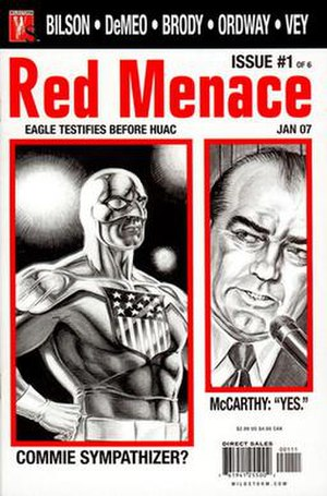 Red Menace (comics) - Cover of the first issue