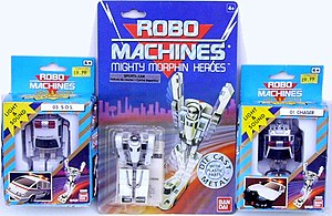 Robo Machine - A selection of figures from the Robo Machines toyline