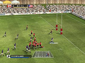 Rugby 08 - In-game screenshot of Rugby 08 on PC