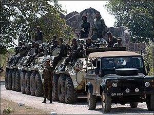 Sri Lanka Armoured Corps - SLAC units in a combat operation.