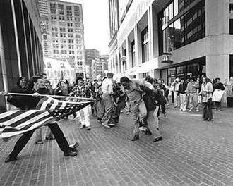 The Soiling of Old Glory - The Soiling of Old Glory, by Stanley Forman.