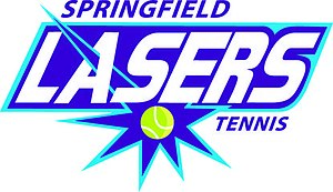 Springfield Lasers - Lasers alternate logo with Han violet-blue used starting with the 2015 season.