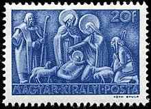 Hungarian Nativity Stamp 1943