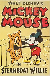 <i>Steamboat Willie</i> 1928 Mickey Mouse short