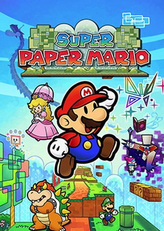 Super Paper Mario - North American and Australian packaging artwork, depicting the game's protagonist Mario