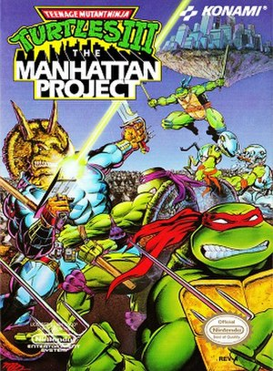 Teenage Mutant Ninja Turtles III: The Manhattan Project - Box art