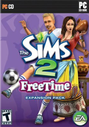 The Sims 2: FreeTime - North American box art