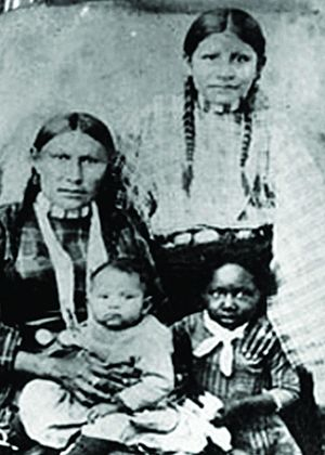 Slavery among Native Americans in the United States - Image: Two Black Indians
