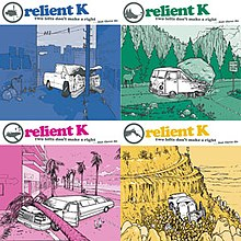 The four original covers of the album