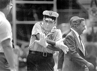 Vic Cianca - Cianca directing traffic with his white gloves