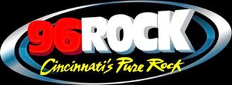 WFTK - 96 Rock's logo as an active rock station from 2007-09