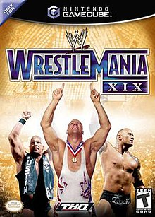 WWE WrestleMania XIX box cover.