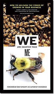 <i>We Are Smarter Than Me</i> book by Barry Libert