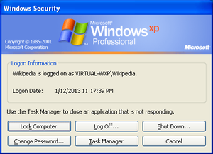 "Graphical identification and authentication - ""Windows Security"" dialog in Windows XP: GINA is responsible for bringing up this dialog when Ctrl+Alt+Delete key combination is pressed"