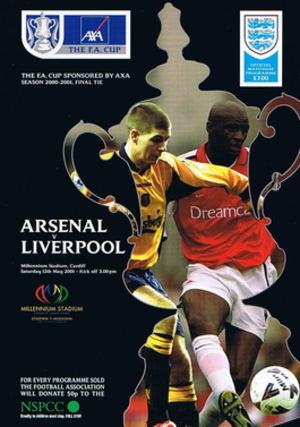 2001 FA Cup Final - The match programme cover.