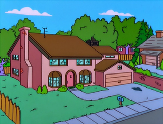 The Simpsons house fictional street address in Springfield of the Simpson family home
