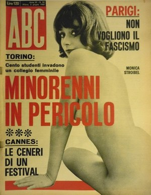 ABC (magazine) - Cover of ABC featuring actress Monica Strebel, June 1968.