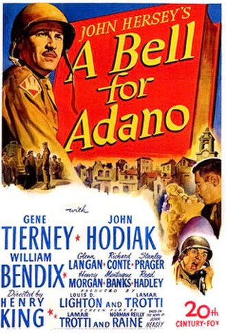 A Bell for Adano - Theatrical poster for A Bell for Adano (1945)