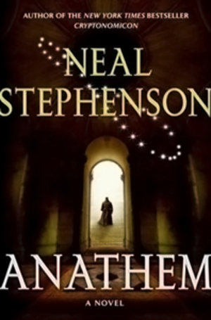 Anathem - Cover of the hardcover first edition, featuring an analemma behind the author's name