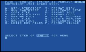 Atari DOS - Image: Ataridos 2.5