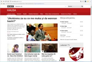 BBC Hausa - BBC Hausa website in 2017.