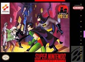 The Adventures of Batman & Robin (video game) - Packaging for the Super NES version.