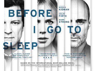 Before I Go to Sleep (film) - British theatrical release poster