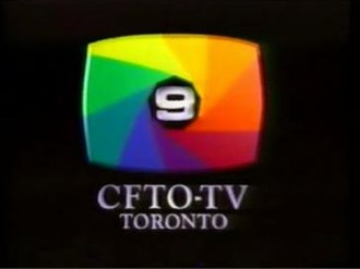 "CFTO-DT - A version from the early 1990s of CFTO's longtime multicoloured iris logo (designed by art director Joern Dressel), first introduced during the transition to colour television in 1965. It was unused for much of the 1980s in favour of a blue ""circle 9"" design before returning c. 1987. This version was later used as the basis for the logo used by the Baton Broadcast System."