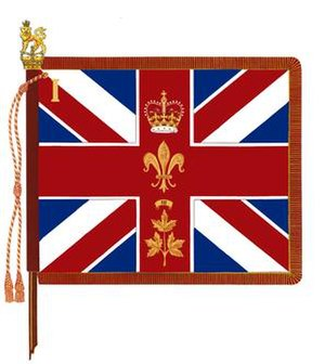 The Canadian Guards - The Regimental Colour of 1st Battalion, The Canadian Guards.