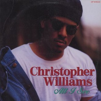 All I See (Christopher Williams song) - Image: Christopher Williams All I See Single