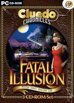 Clue Chronicles: Fatal Illusion - The EU version cover of Cluedo Chronicles