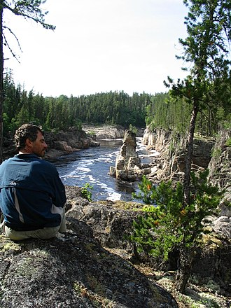 Missinaibi River - Conjuring Rock below Thunderhouse Falls