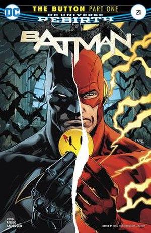 The Button (comics) - Image: Cover of Batman vol 3 Issue 21