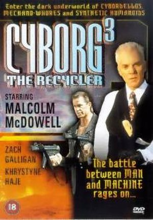 Cyborg 3: The Recycler - Region 2 DVD cover