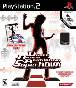 Dance Dance Revolution SuperNova - North American PlayStation 2 version cover art
