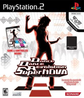 Dance Dance Revolution SuperNova - North American PlayStation 2 version cover art