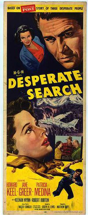 Desperate Search - 1952 Theatrical poster