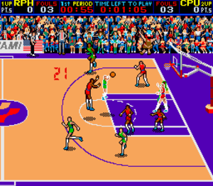 Double Dribble (video game) - Screenshot of the arcade version.
