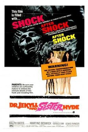 Dr. Jekyll and Sister Hyde - United States film poster
