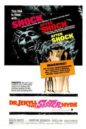 Dr. Jekyll and Sister Hyde - US theatrical release poster