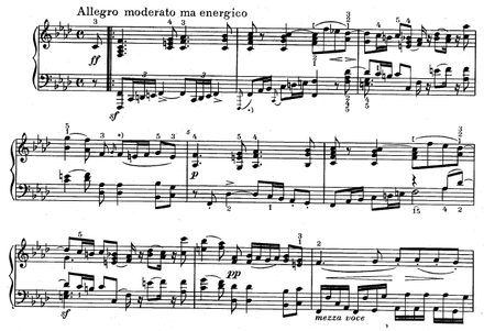 The opening of Dussek's Grand Sonata in F minor, Op. 77. Play  (help*info) Dussek Op 77 opening.png