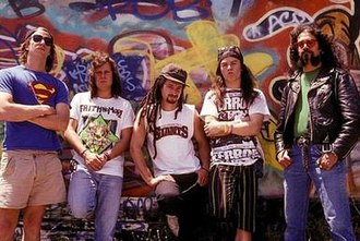 Faith No More - Faith No More in a promotional photo for The Real Thing, c. 1989-1990