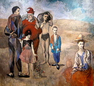 Family of Saltimbanques (1905, Pablo Picasso) ...