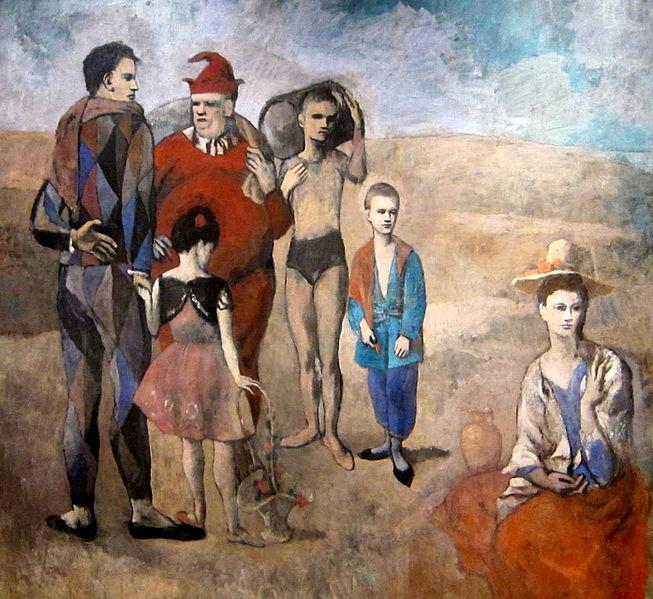 Pablo Picasso, Famiglia di saltinbanchi